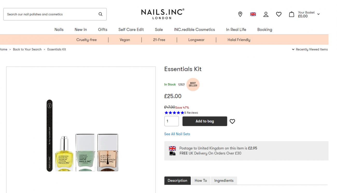 Nails Inc Bundles Example