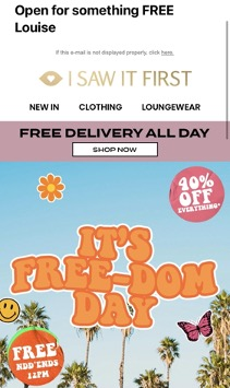 Exclusive offer E-mail