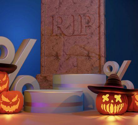 Dark Halloween Promotion Background